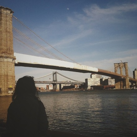 kiele at brooklyn bridge.