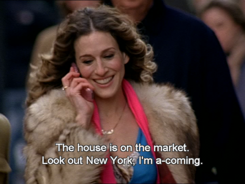 Okay... I'll allow only ONE Carrie Bradshaw joke. That's it!