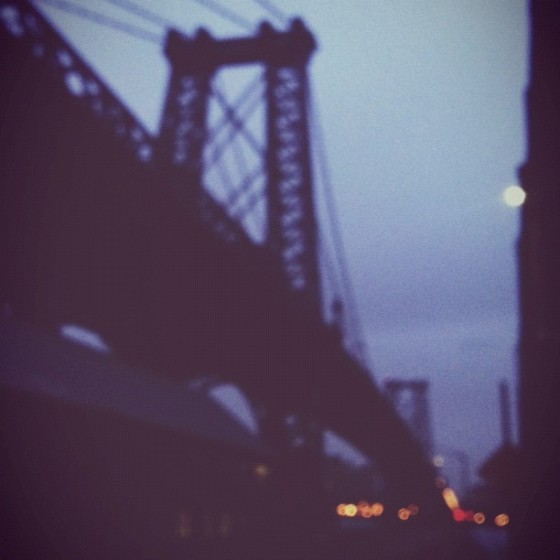 Why is it that rain makes for the best Instagrams? (Williamsburg Bridge, December 2012)